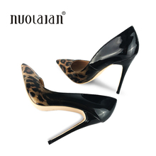 2018 Brand Women Pumps Sexy Leopard Shoes High Heels 12cm Heel Party Wedding Wo Size 4-11