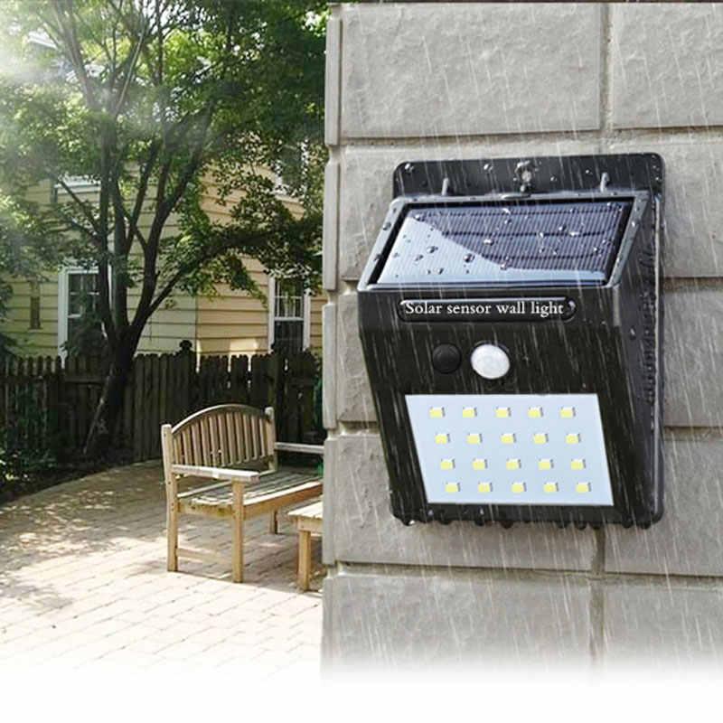 Светодиодный открытый солнечный датчик лампа автоматически стены водонепроницаемый уличная лампа для сада motion общественная дорога ночные лампы держать освещения
