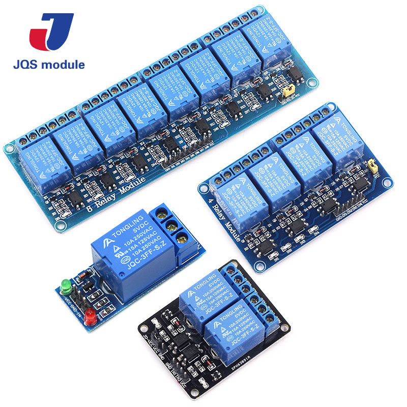 1pcs 5v 1 2 4 8 channel relay module with optocoupler. Relay Output 1 2 4 8 way relay module for arduino 4 channel 5v relay module expansion board for arduino works with official arduino boards