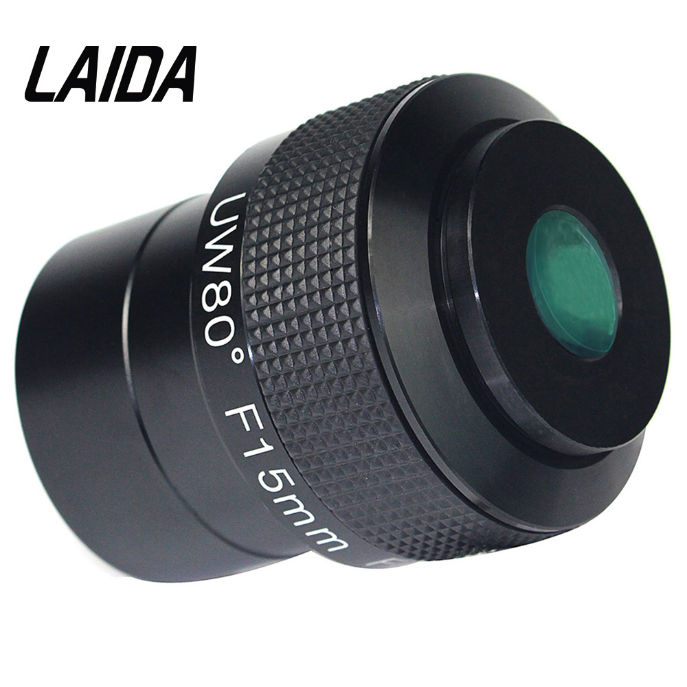 2 Telescope Eyepiece Astronomy Telescope F15mm Ultra Wide Angle 80 Degree FMC for Deep Sky Object