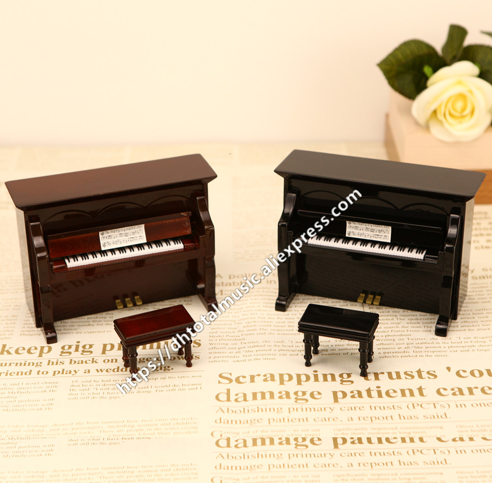 Miniature Piano Music Box Model Replica Dollhouse Accessories Mini Piano Musical Instrument Ornaments Display Christmas Gifts-in Music Boxes from Home & Garden on AliExpress - 11.11_Double 11_Singles' Day 1
