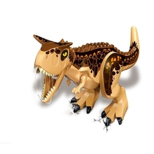 Large Indominus Rex Jurassic World Dinosaur Custom Minifigure Raptor Toys Set BP