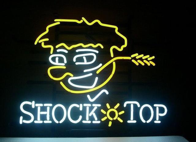 Custom Shock Top Glass Neon Light Sign Beer Bar