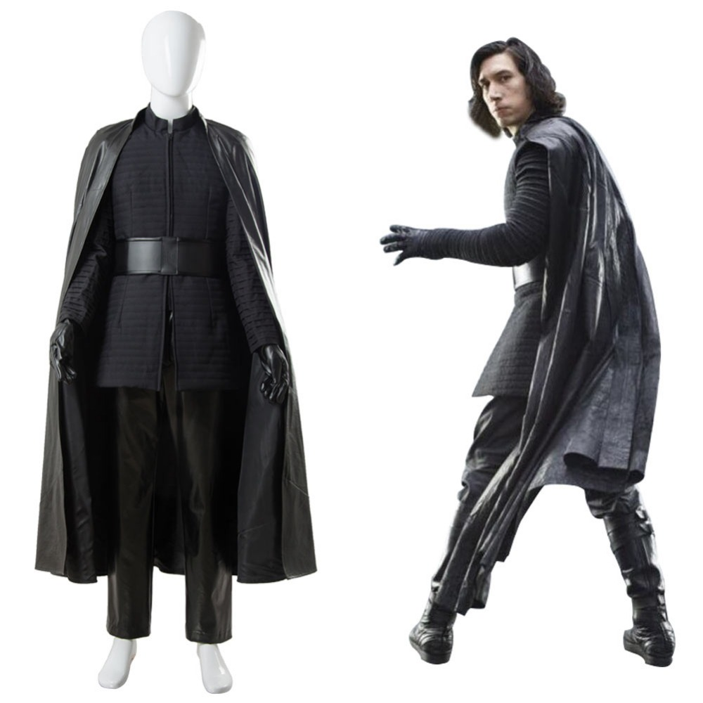 Star Wars 8 The Last Jedi Kylo Ren Outfit Ver.2 Cosplay Costume full set