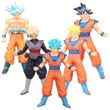 5 Style 45cm Dragon Ball Z Saiyan Figure Super Soldiers Blue Hair Son Goku Gohan PVC Action Figure Model Brinquedos Toys hazy beauty dragon ball gt figure rise standard super saiyan 4 goku vegeta figure juguetes brinquedos dolls toys figurals