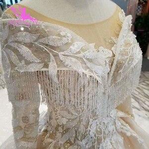 Image 5 - AIJINGYU Wedding Gown Lace Gowns Vintage Pakistani Finland Ball Luxury 2021 2020 Real Cathedral Dress Pakistani Wedding Dresses