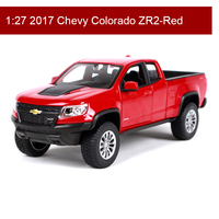 Maisto 1:27 Chevy Colorado ZR2 Diecast Model Car Metal Car Kids Toys Roadster Car simulation model For Gift Collection