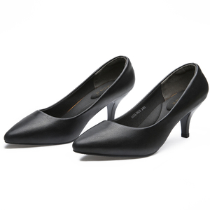 Image 2 - YALNN High Heels Black Fashion Women Pums Mature Casual Woman Spring/Autumn Pumps Girls Shoes Party Pointed Toe Thin High Heels