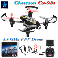 Cheerson CX-93S Drone with Camera 720P HD 5.8GHz FPV Real-Time Transmit RC Helicopter 2.4G 4CH 6-Axis High Speed RTF Quadcopters