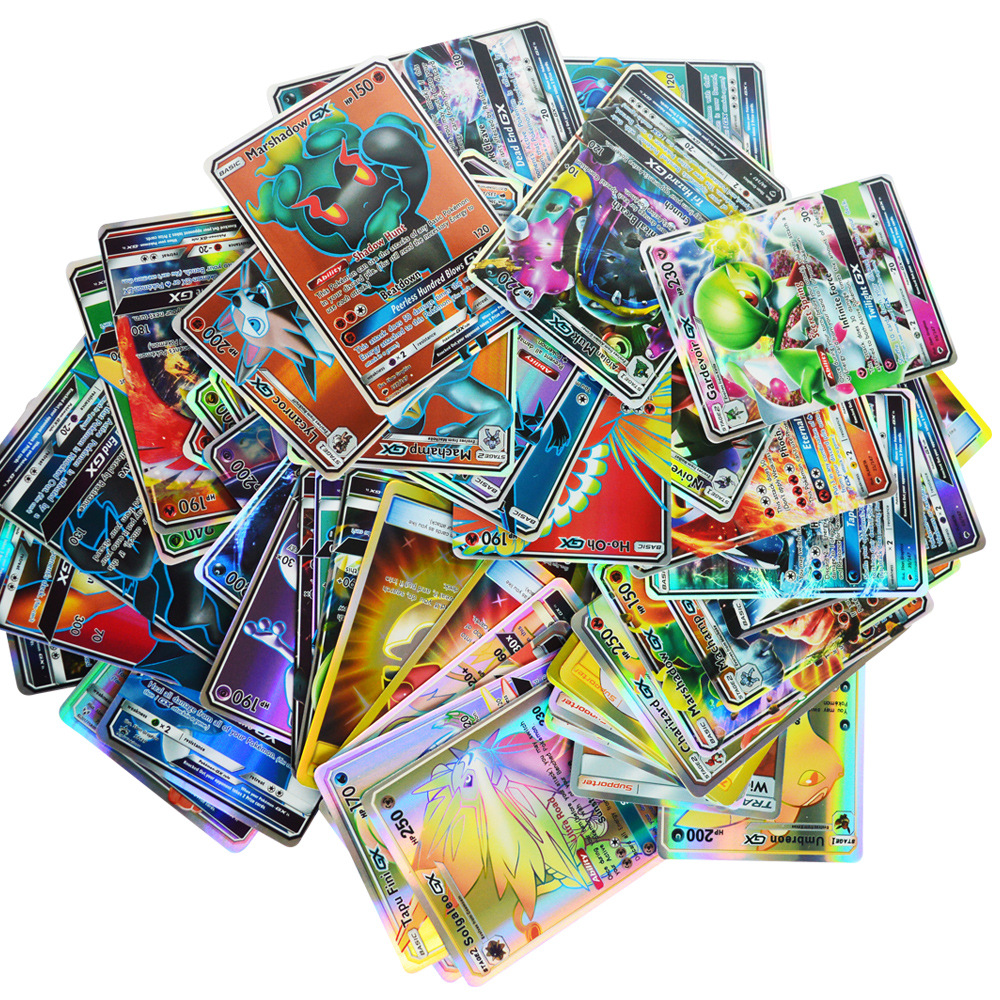 200 100 60 Pcs No Repeat For Pokemones GX EX MEGA Cards Toy Game Battle Carte Trading Energy Shining Cards Children's Collection