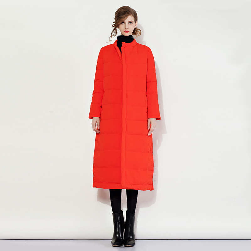 Noble Items Coats Uk Style  Black / Red Blet Warm Star Style 2017 Autumn Winter Women High Street Long Coat new style 0382 star red