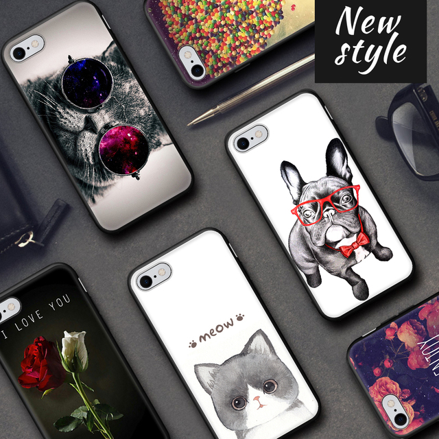 Cute Animal Pattern Phone Case For iPhone Xs Max Xr Silicone TPU Case For iPhone 6 6s 7 8 Plus X Back Cover Capa Protective Case