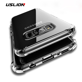 USLION Transparent Gasbag Phone Cases For Samsung Galaxy S9 S8 Plus S7 Edge Note 8 Crystal Anti-Knock Soft TPU Cover Back Case samsung