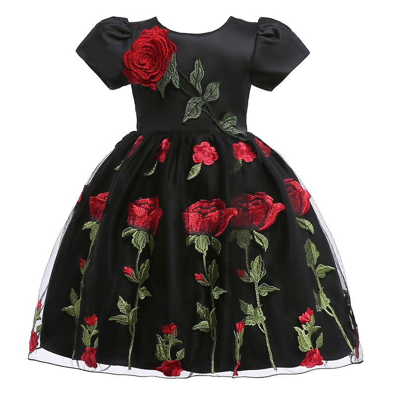 Retail 2019 Summer Kids   Girl   Appliques   Flower     Girl     Dress   Children   Girls   Wedding Party   Dress   For 2-8 Years L5009