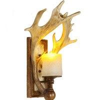 Современный Американский творческие рога Ретро светодиодный настенные светильники Гостиная прикроватные искусство атмосферу прохода каф