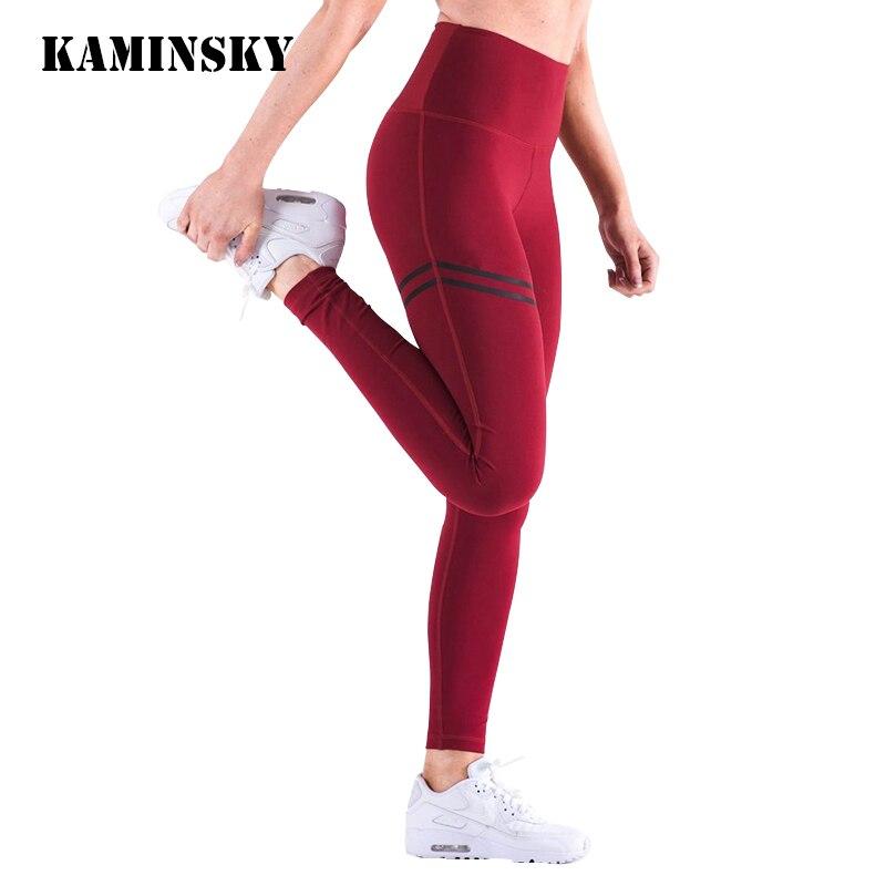 Kaminsky Women High Waist Leggins Women's Fashion Push Up Legging Polyester Activewear Bodybuilding Jeggings Fitness Leggings