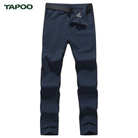 Summer quick dry pants men TAPOO brand clothing thin breathable mens pants outside travel military casual pants trousers no belt