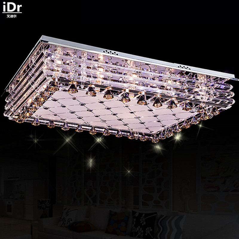 new design ceiling lights led rectangular living room bedroom crystal low pressure lamps free delivery cheap bedroom lighting