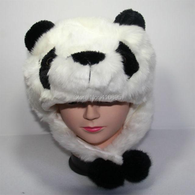 Musim Gugur Musim Dingin Topi Kostum Panda Hewan Topi untuk Anak Anak  Wanita Pria Putih Hitam dce9588e71