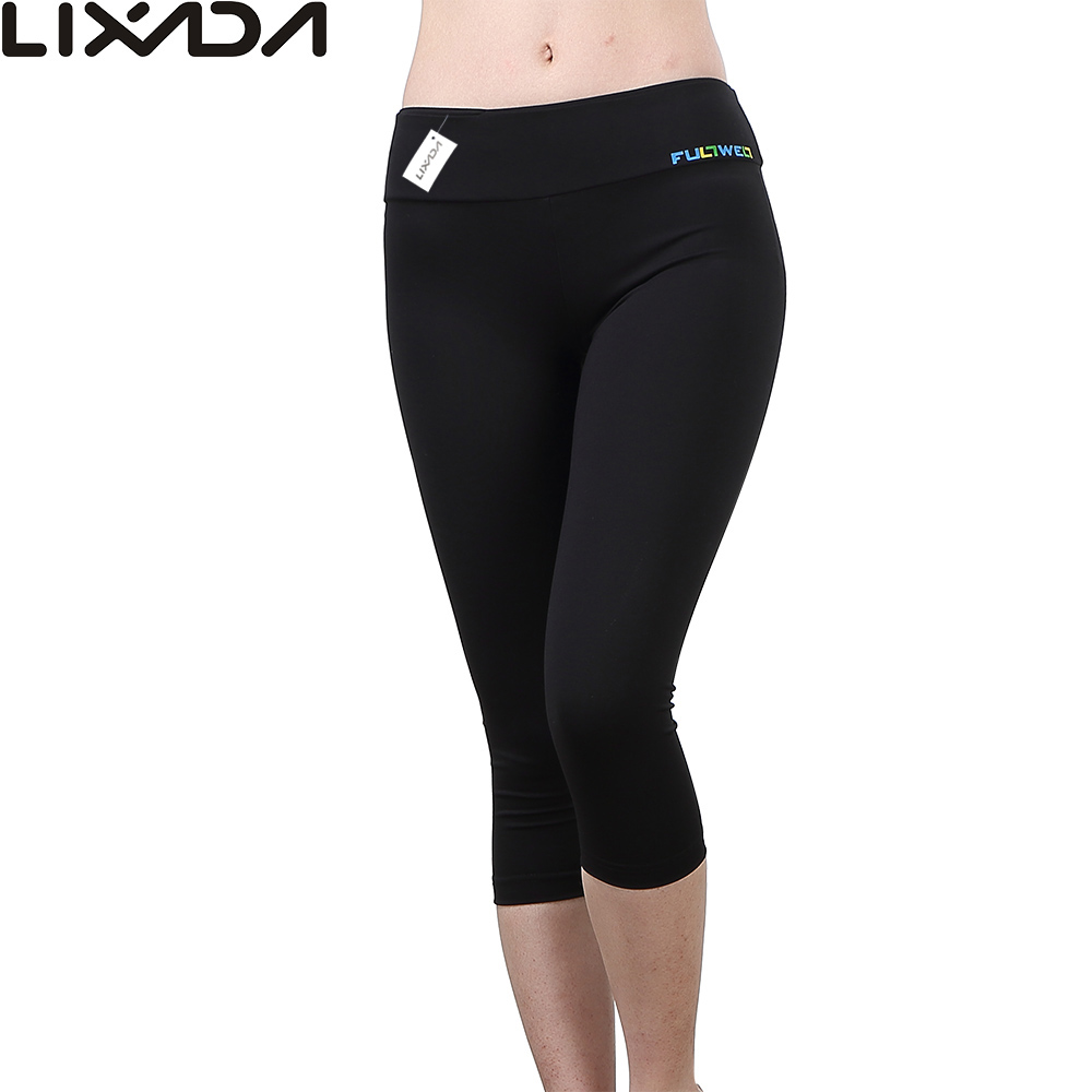 Prix pour Femmes De Compression Sport Capri De Yoga Pantalons Vitesse Élastique Exercice Collants Femelle Physique Pantalon de Course Gym Yoga Mince Leggings