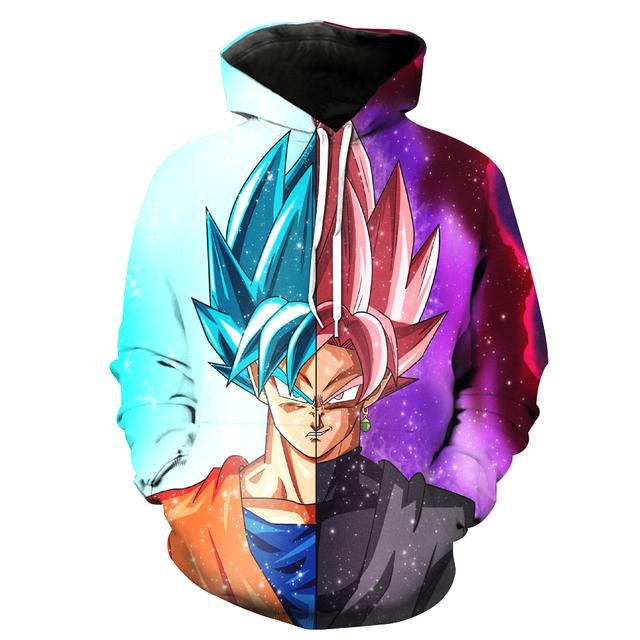 Goku / Black Goku Rose Hoodie