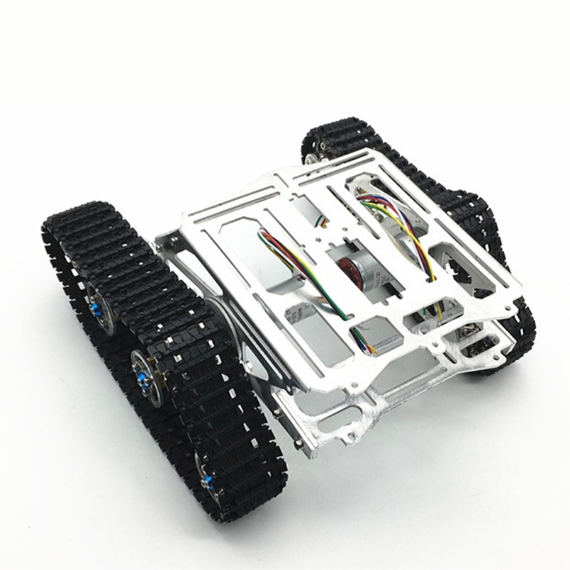 JMT Tracked Robot Intelligence Car Platform Aluminum alloy Chassis with Dual DC Motor for Arduino DIY цена