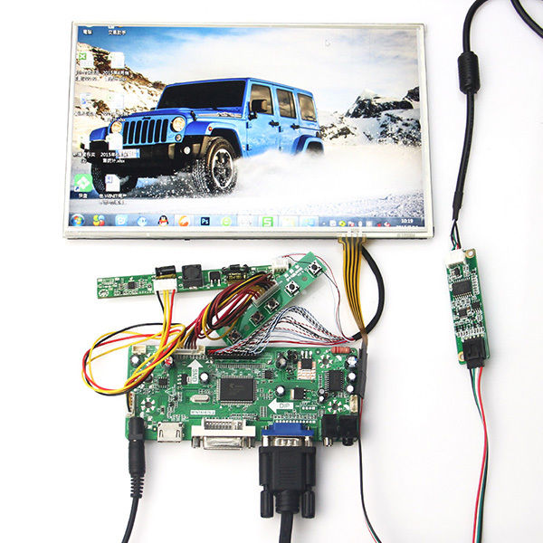 for 10.1 inch B101UAN02 1920*1200 +Touch panel+ HDMI+VGA+DVI LCD Controller Board free shipping vga audio hdmi dvi lcd controller board hdmi dvi for 10 1 inch 1024x600 n101l6 l0a n101l6 l02 wled lvds lcd panel