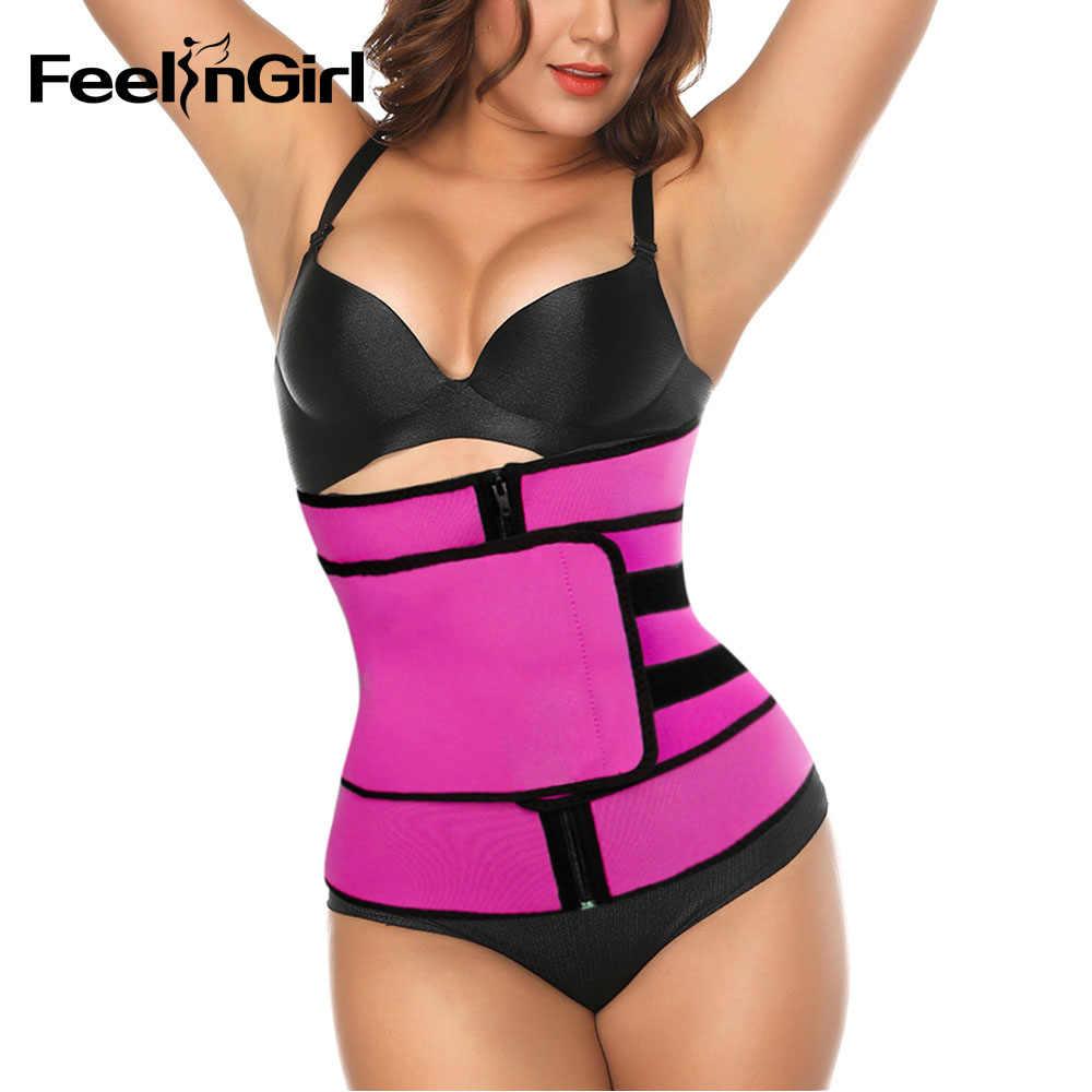 06eba5e34b FeelinGirl Zipper Waist Trainer Tummy Trimmer Zipper Neoprene Cincher  Fitness Corset Hot Body Shapers Slimming Abdominal
