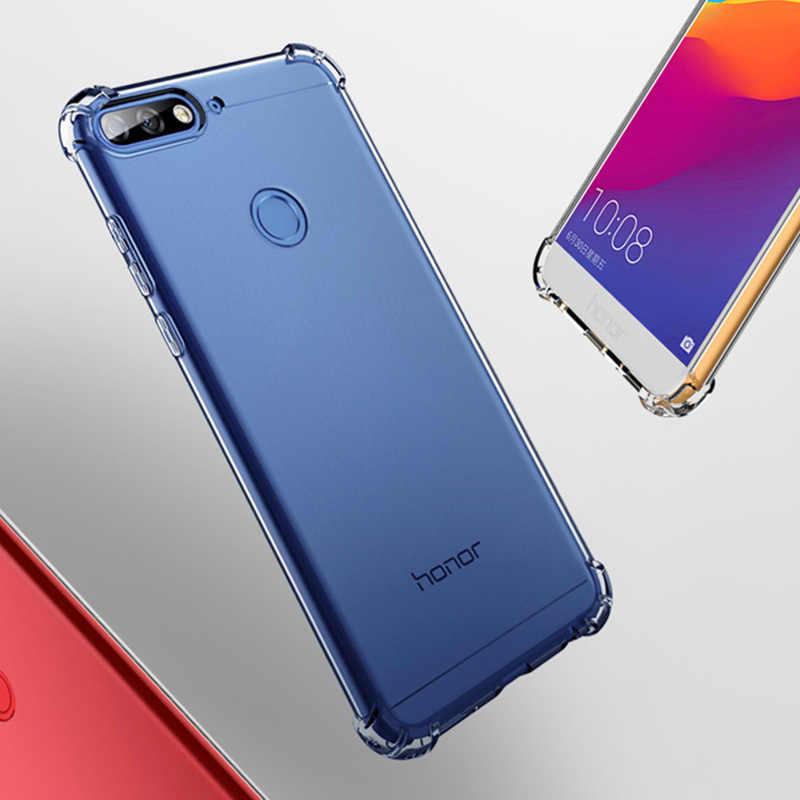 Mềm Mại Ốp Lưng Dẻo Silicone Huawei Mate10 P20 P30 P9 Lite Pro Nova3 Chống Kích P Thông Minh 2019 Y6 2018 Ốp Lưng Chống Sốc Trong Suốt TPU