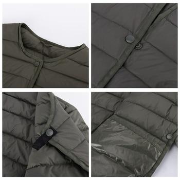 NewBang Matt Fabric Light Jacket Female Ultra Light Down Jacket Women Slim Windbreaker Without Collar Lightweight Warm Coat 5
