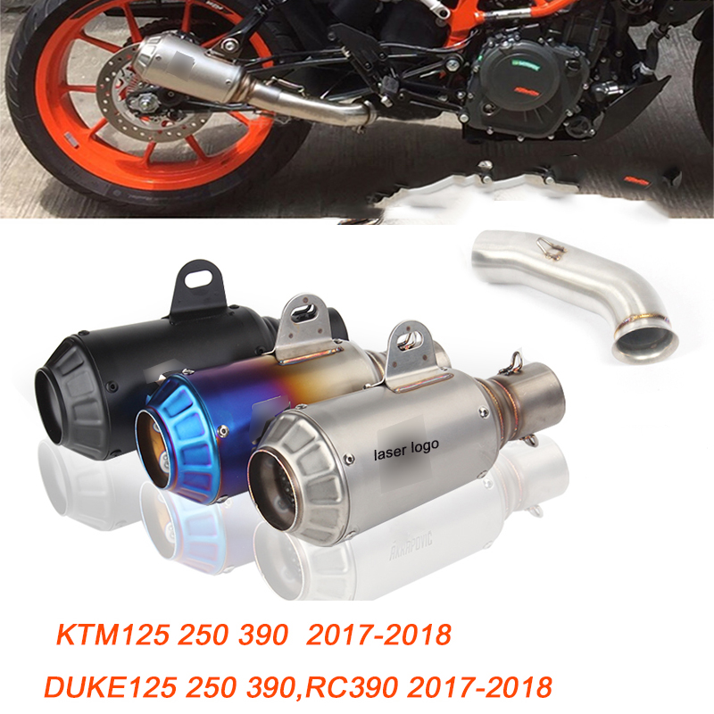 50 8MM Motorcycle Middle Link Pipe Stainless Steel Exhaust Muffler Pipe System for KTM125 250 390