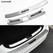 Stainless Steel Exterior Interior Rearguards Rear bumper Trunk Trim Bumper Pedal For Volkswagen VW Jetta MK7 2019