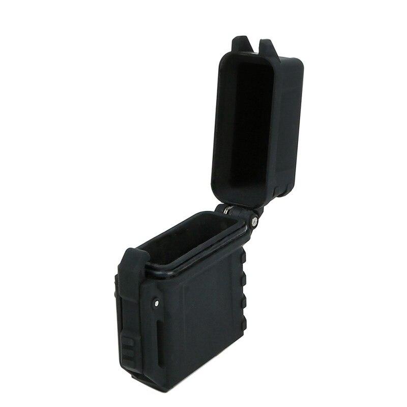 (Taktische) Leichter Lagerung Fall Universal Tragbare Box Container Organizer Halter Leichter Inneren Tank Fall Für Zippo Outdoor-tool