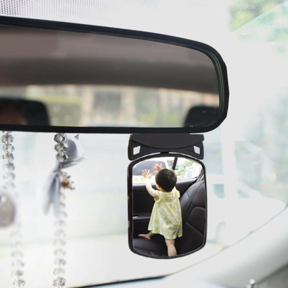 AUMOHALL Universal Baby Child Safety Car Rear Seat View Mirror Baby Backseat Mirror for Car With Wide Convex Shatterproof Glass