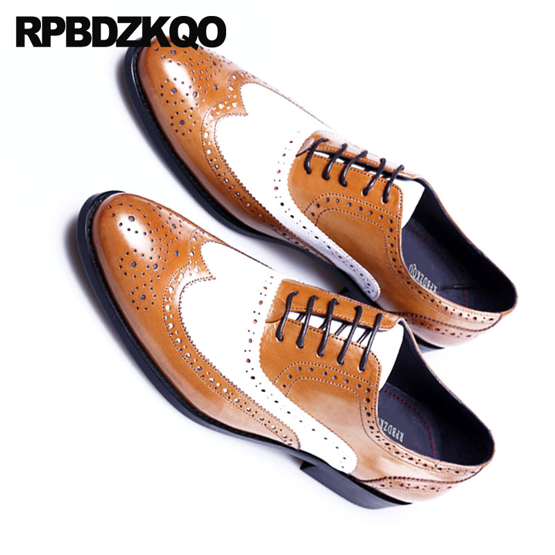 Mens British Wingtip Leather Formal Sneakers Brogue Lace up Casual Shoes plus sz