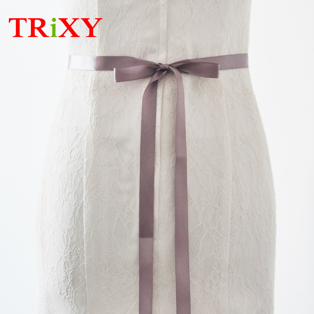 TRiXY S40 2CM Free Shipping Thin Bridal Belt Ribbon Wedding Sashes Cheap  Ribbon Wedding Bridal Sash Belts 2CM-in Bridal Blets from Weddings   Events  on ... 2c5cf8dbbfed