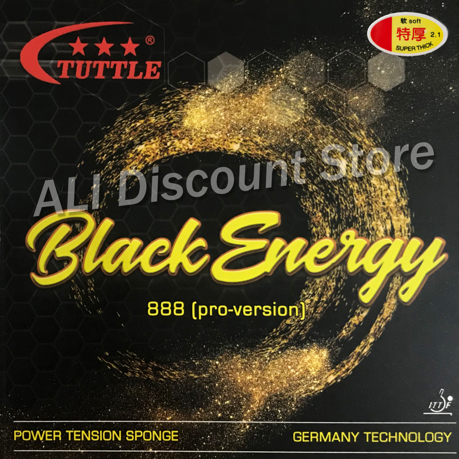 Tuttle ITTF Black Energy 888 Germany Cake Sponge 40+ Table Tennis Rubber, Ping Pong Rubber Free Shipping