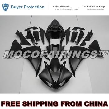 For Yamaha YZF R1 2009 2010 2011 ABS Fairing Plastic Kit 100% Fitment MATTE BLACK YZF-R1 09 10 11