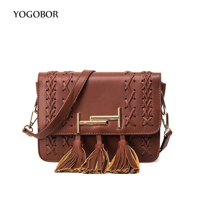 f598a951f99e Hot Sale Tassel Weave Women Bag Leather Handbags Cross Body Shoulder  Messenger Bags Fashion Small Flap Handbag Bolsas Femininas