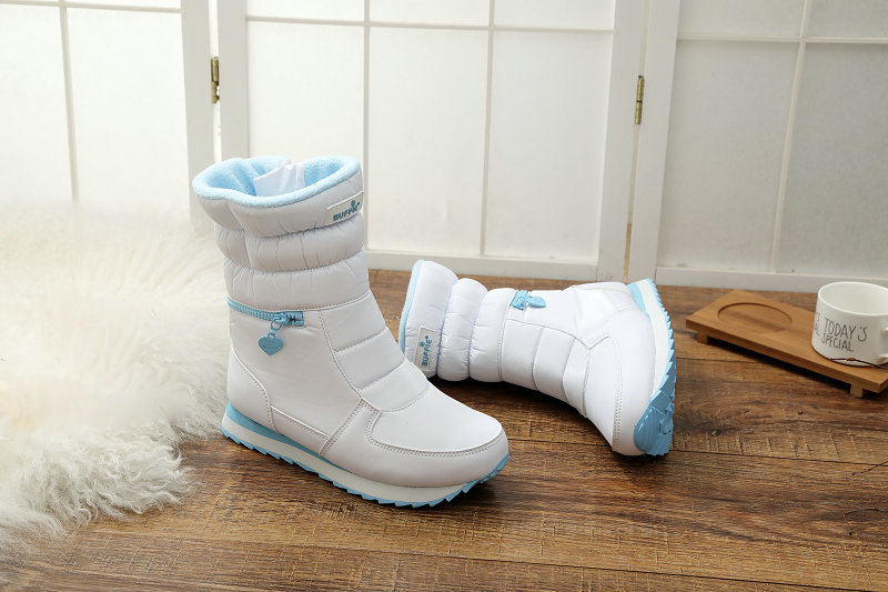 052fc6be7e5 Botas Zapatos Zip white Plata Para 2018 Caliente Blanco Nuevo Chica Black  Estilo gray De La Fidanei silver Invierno Nieve Mujer Moda 4taqZx