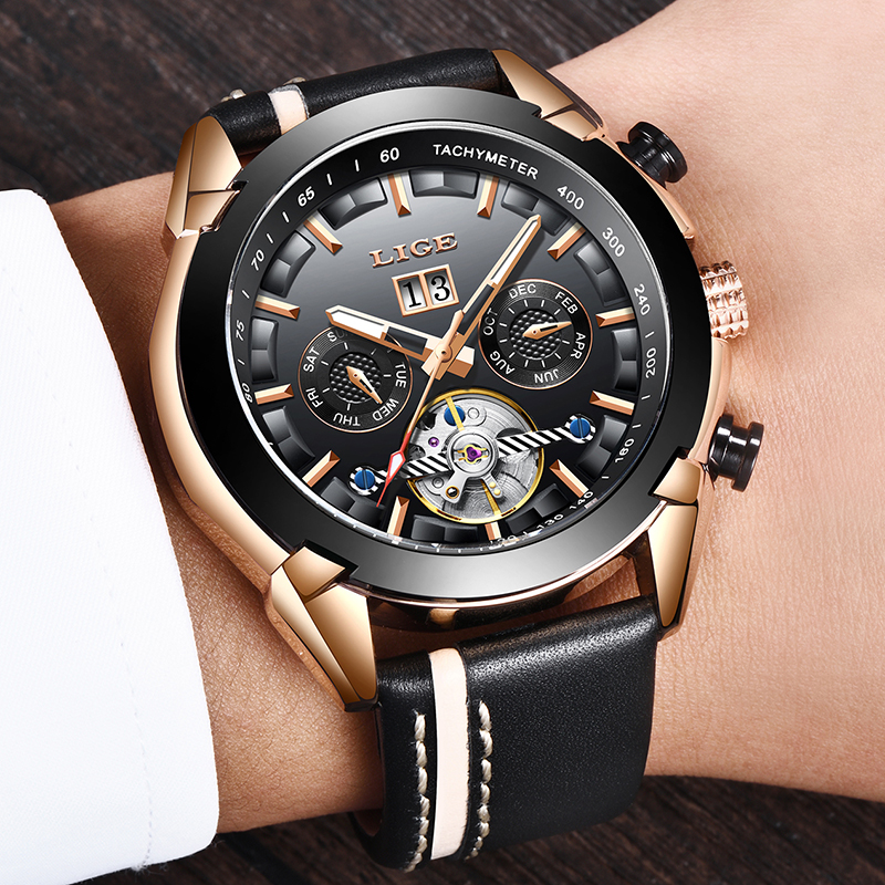 2019 New Mechanical Men Watch LIGE Luxury Automatic Mechanical Watch Male Leather Waterproof Sport Watch Men Business Wristwatch2019 New Mechanical Men Watch LIGE Luxury Automatic Mechanical Watch Male Leather Waterproof Sport Watch Men Business Wristwatch