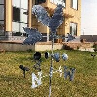 Новые традиционные петухи, железные петухи, ветряные лопасти, индикатор скорости ветра, садовые дворы