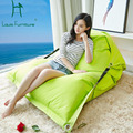 Bean bag folding chair simple modern double waterproof cloth Oxford lazy sofa bed tatami bed