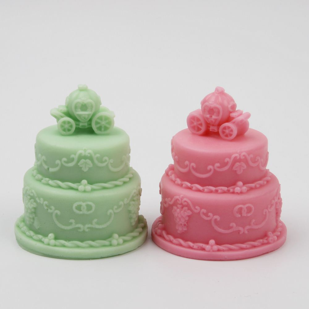 Clay Extruders Gadgets 3d Wedding Cake Pumpkin Car Silicone Candle Mold Resin Clay Cake Decorative Soap Mold