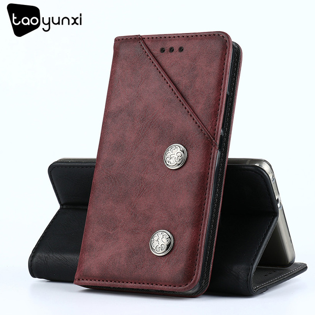 TAOYUNXI For Asus Zenfone 3 Max ZC520TL Case Flip Leather Wallet ASUS X008D Case Cover Vintage Plain Holster Phone Bags 5.2 inch