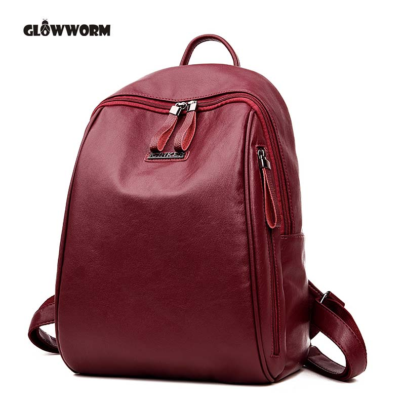 2018 Autumn Simple Style Backpack Women High Quality Backpacks For Teenage Girls School Bags Fashion Vintage Solid Shoulder Bag mara s dream 2018 backpack simple style women pu leather backpacks for teenage girls school bags vintage solid shoulder bag