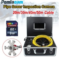 23 мм Профессиональный трубы Канализационные инспекции Камера Системы 7D1 7 TFT монитор 20 м 30 м 50 м кабель промышленной трубопроводной эндоскоп