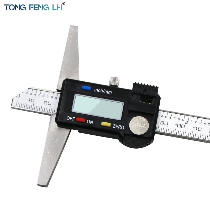 """Steel Caliper 0-150mm 6/"""" Digital Depth Gauge Vernier Stainless mm//inch Imperial"""