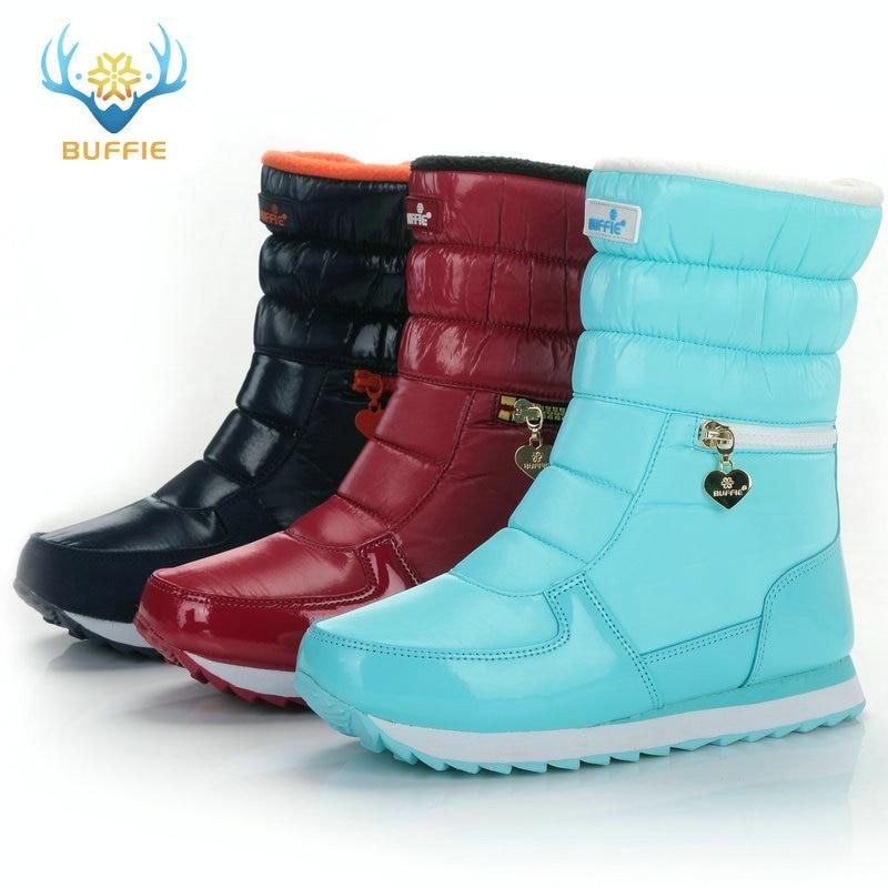 Sepatu bot musim dingin putih, Fashion wanita sepatu salju, Gaya baru - Sepatu Wanita - Foto 3