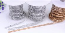 3mm 2 rows Glass Rhinestone Trim Crystal Beaded Applique Hotfix Iron On Strass  Mesh Banding In Roll For Wedding Dresses Crafts f9e3e69afd85